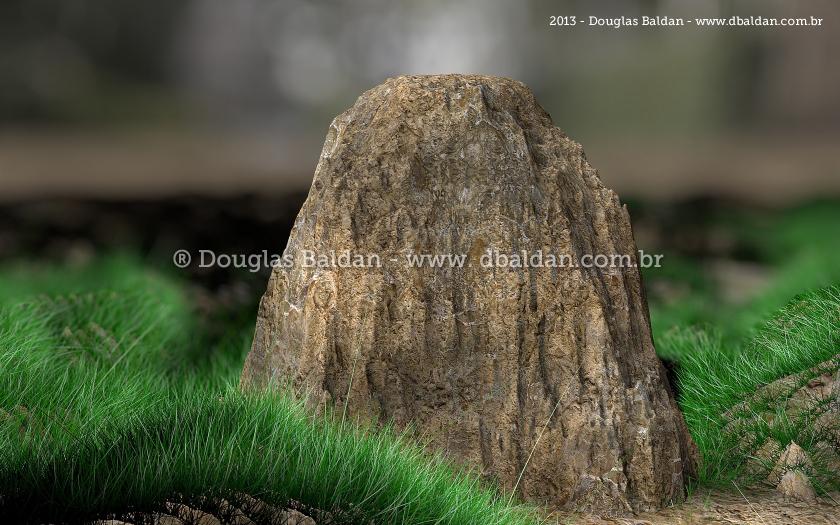 Estudo 3D – Grass & rock
