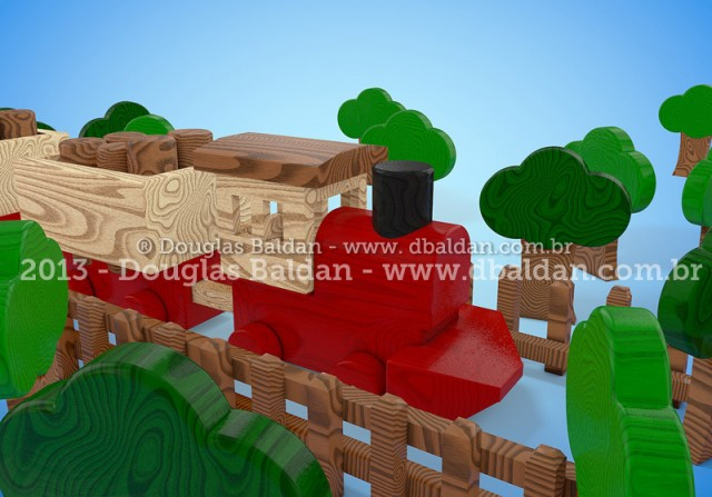 Wood train toy