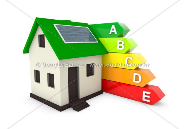 Energy Efficiency house – stock image