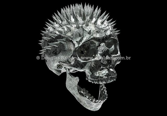 Metallic Skull stock image